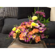 Sympathy Cemetery Flower Arrangement ( Exclusive Plastic Tray ) >model 406