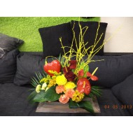 Sympathy Cemetery Flower Arrangement ( Exclusive Plastic Tray ) >model 407