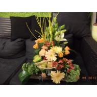Sympathy Cemetery Flower Arrangement ( Exclusive Plastic Tray ) >model 409