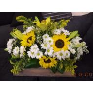 Sympathy Cemetery Flower Arrangement > Exclusive Plastic Tray >model 410