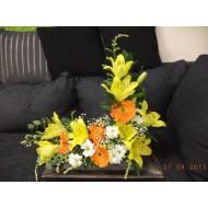 Sympathy Cemetery Flower Arrangement ( Exclusive Plastic Tray ) >model 411