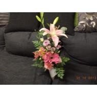 Sympathy Cemetery Flower Arrangement ( Exclusive Plastic Tray ) >model 413