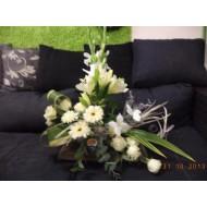 Sympathy Cemetery Flower Arrangement ( Exclusive Plastic Tray ) >model 414