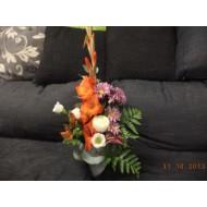 Sympathy Cemetery Flower Arrangement ( Exclusive Plastic Tray ) >model 415