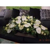Sympathy Cemetery Flower Arrangement > Exclusive Plastic Tray >model 416
