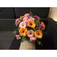 Bouquet in Orange and Rose with Gerbera's