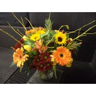 Bouquet in Yello, Red and Orange