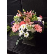 Bouquet in Rose, White and Blue